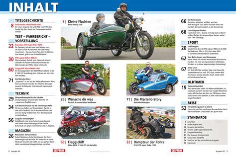 Motorrad Gespanne Katalog 2017 by Motorrad Gespanne 162 Nov Dez 2017 Motorrad Gespanne