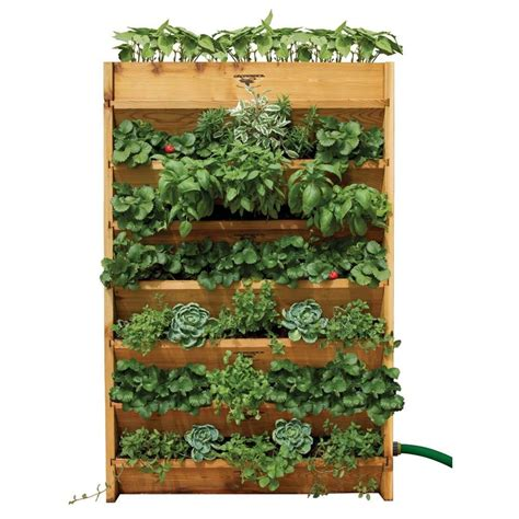 Vertical Garden Beds Gronomics Vertical Garden System At Diy Home Center