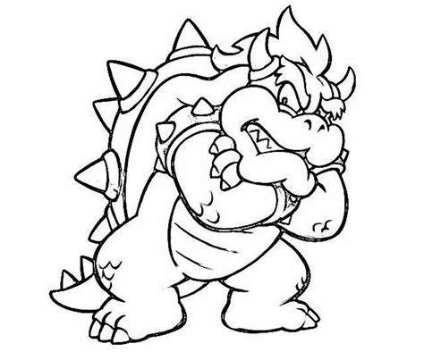bowser coloring pages mario land bowser cocky coloring 590435