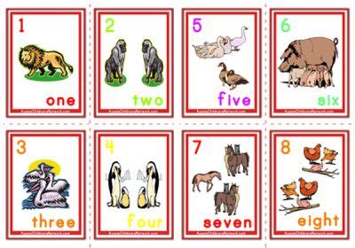 printable animal number cards counting numbers flashcards animals aussie childcare
