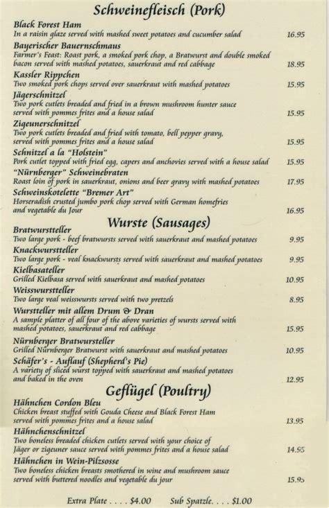 german cuisine menu nurnberger german restaurant in livingston staten island