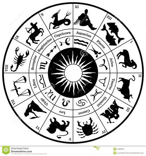 imagenes zodiaco negro rueda del hor 243 scopo del zodiaco ilustraci 243 n del vector