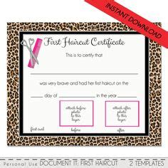 First Haircut Certificate Free My Cakepins Com Stuff Pinterest Certificate Templates Haircut Certificate Template