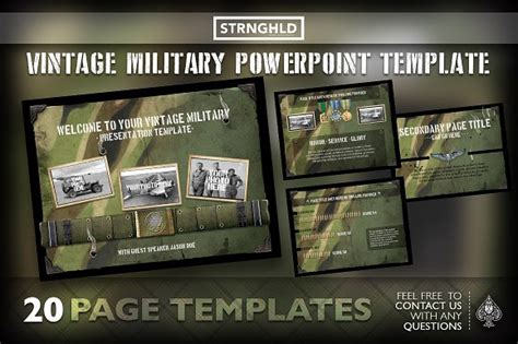 military templates for photoshop vintage military powerpoint template presentation