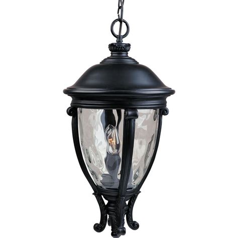 hton bay 1 light black outdoor hanging lantern hb7030