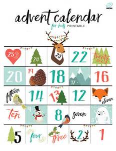 Free Printable Advent Calendar Template by Printable Advent Calendar For Imom