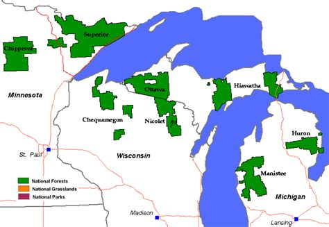 michigan state forest map showcasing the dnr forest service dnr cooperate on