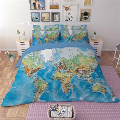 Karpet Size 160x210cm 1 world map bedding sets duvet cover solid fitted sheet