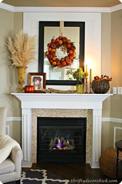 decorating  mantel  fall  thrifty decor chick