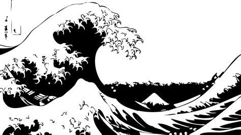 great wave  kanagawa stencil template paper lamps