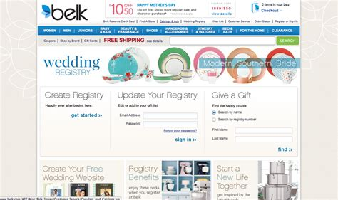 Wedding Registry Belk by Best Wedding Registry Websites Top10weddingsites
