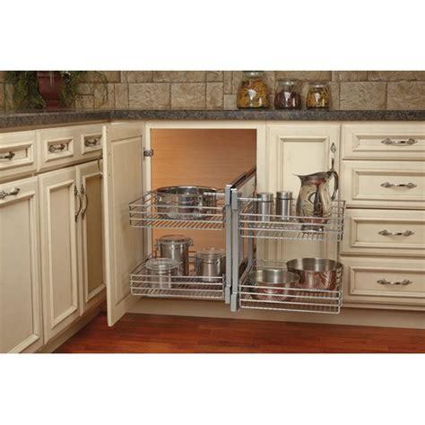rev a shelf blind corner cabinet system rev a shelf 5psp 18 cr large blind corner optimizer