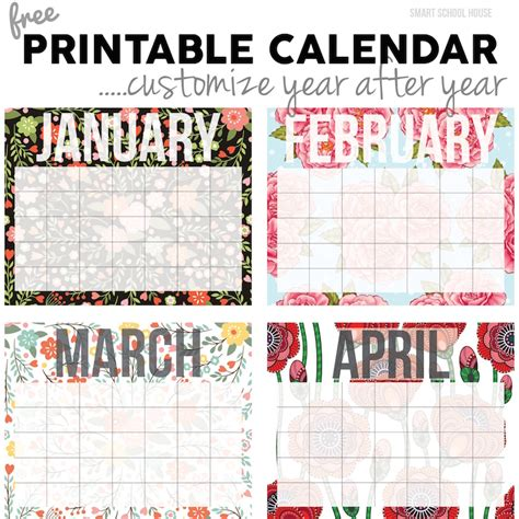 printable calendar custom dates free calendar