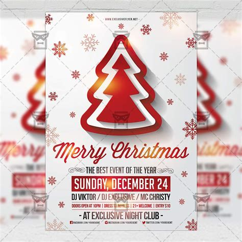 Merry Christmas Seasonal A5 Flyer Template Exclsiveflyer Free And Premium Psd Templates Merry Flyer Template Free