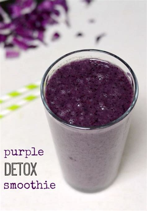 Medium Detox Smoothie by This Purple Detox Smoothie Is A Deceptively Delicious