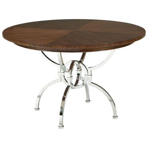 hilda modern steel walnut pedestal dining table