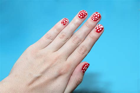 easy nail art wikihow how to paint polka dot nails with a toothpick 9 steps