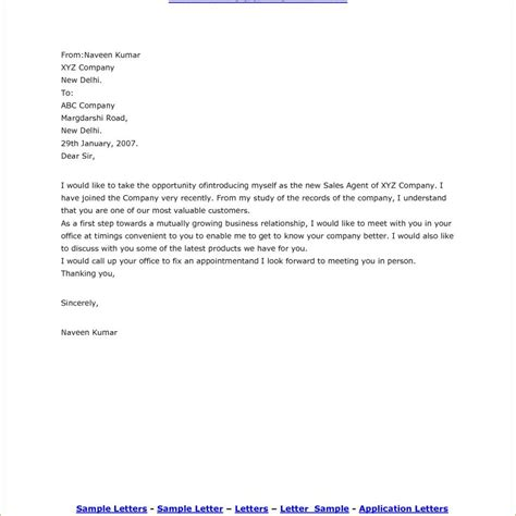 Sle Resume Email Introduction by Sle Of Self Introduction Letter For South Africa Visa