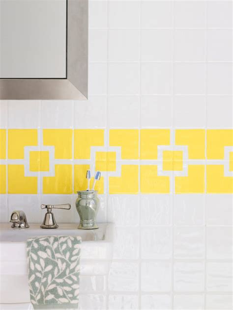 How To Paint Bathroom Wall Tiles by How To Paint Ceramic Tile Diy Painting Bathroom Tile