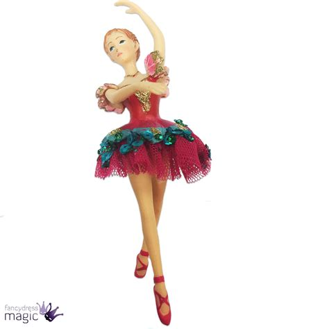 Ballerina Tree Decoration - gisela graham nutcracker clara ballerina painted tree