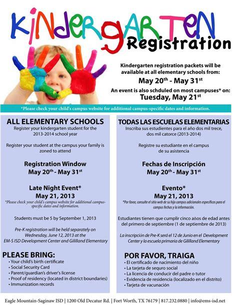 kindergarten registration flyer search pre k registration flyers