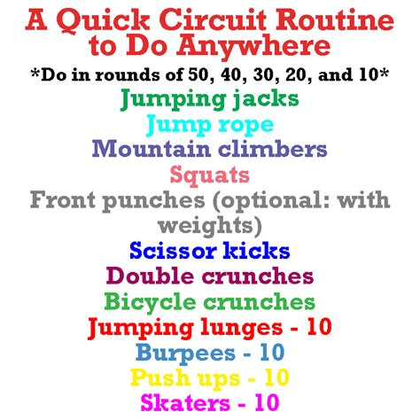 a circuit workout to do anywhere foodie fitness