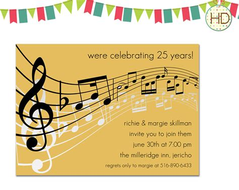 Musical Note Card Template by Notes Invitations Sheet Invitation By