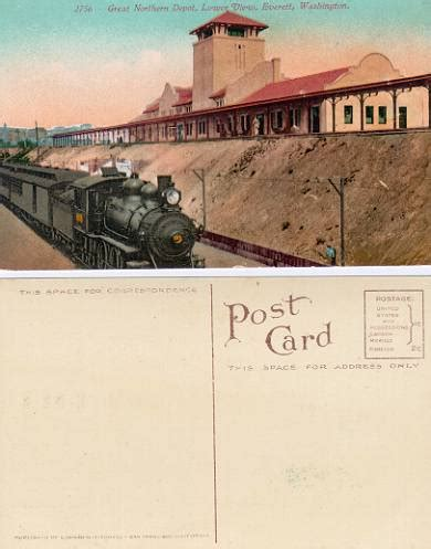 postcard from the great northern railway depot everett