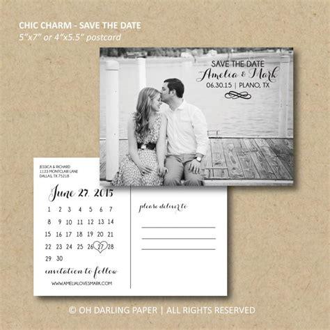 printable postcards save the date printable save the date postcard chic charm calendar