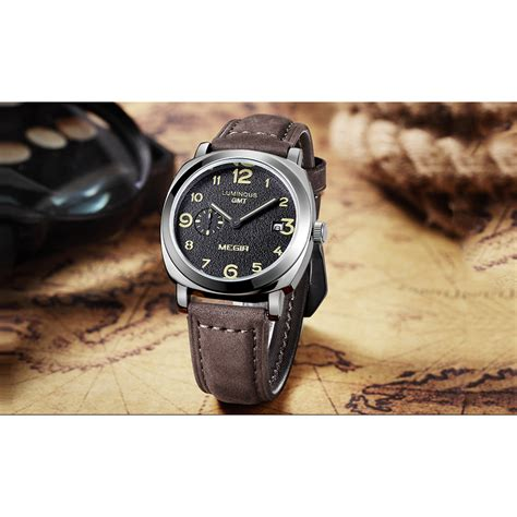 megir pilot lumi iii jam tangan analog ml1046g black