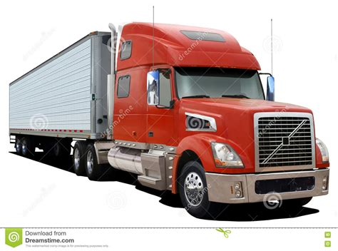 red volvo truck volvo cartoons illustrations vector stock images 56