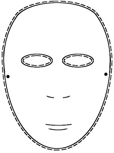 Drama Resources Drama Lesson Plan Using Masks No Mask Template