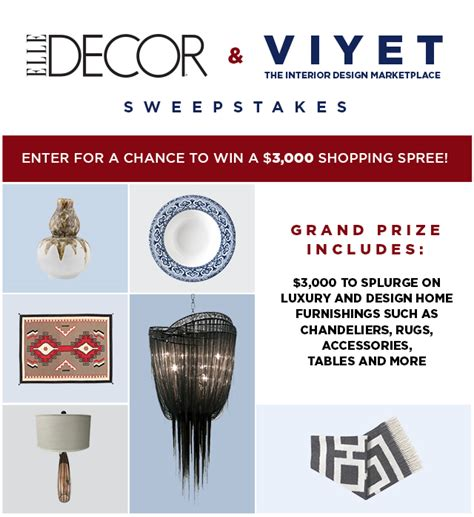 Hearst Mobile Sweepstakes - elle decor viyet sweepstakes