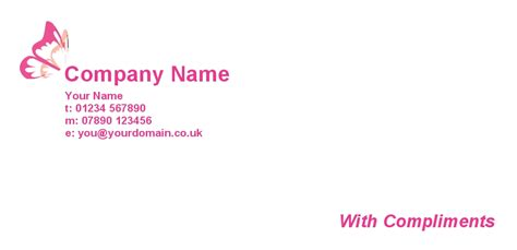 Best Compliments Card Template by Personalised With Compliment Slips Printing In