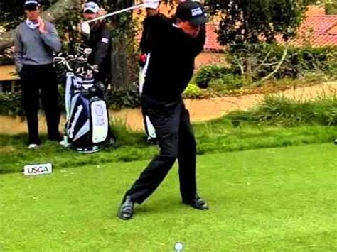 phil mickelson driver swing phil mickelson semi front driver swing 2010 us open youtube