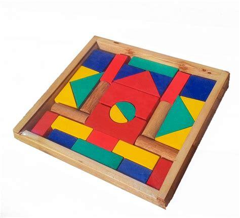 Promo Hari Ini Mainan Edukatif Edukasi Anak Balok Kayu Puzzle 9 jual city block balok bangun a48 mainan edukatif edukasi anak kayu sni berkah toys