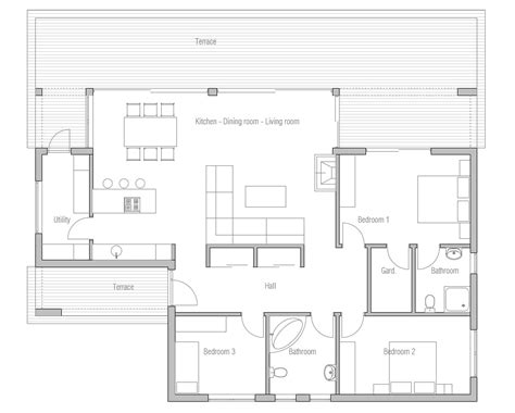 modern house plans affordable home plans economical house plan ch140