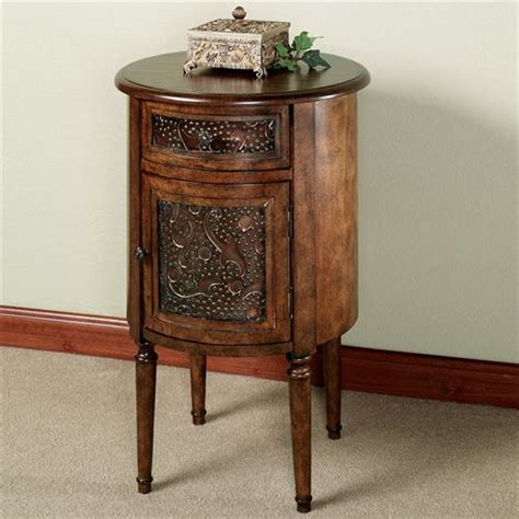 tall corner accent table lombardy round storage accent table