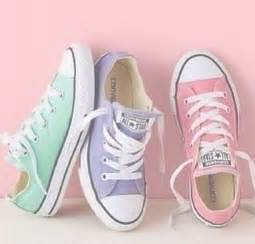 colored converse converse allstars pastel colors all