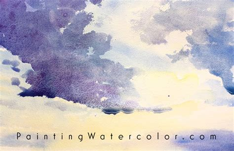 tutorial watercolor clouds sunset clouds watercolor painting tutorial