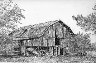 drawings of barns pen and ink barns sheds houses and other structures by