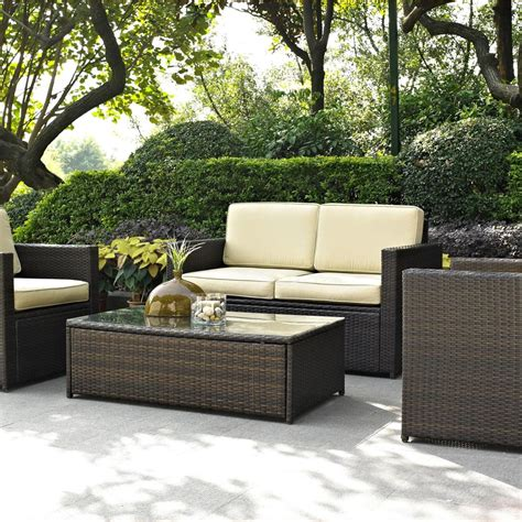Light Wicker Outdoor Furniture Light Grey Wicker Patio Furniture 4 Rattan Outdoor Furniture Set