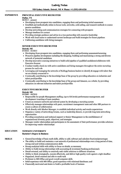 sle executive recruiter resume executive recruiter resume annecarolynbird