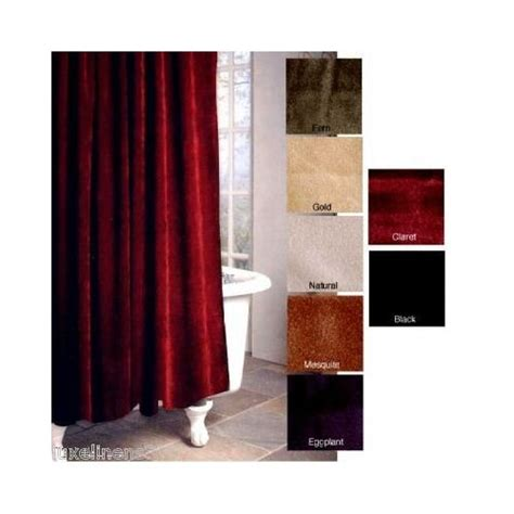 Burgundy Velvet Curtains Rich Solid Burgundy Velvet Shower Curtain