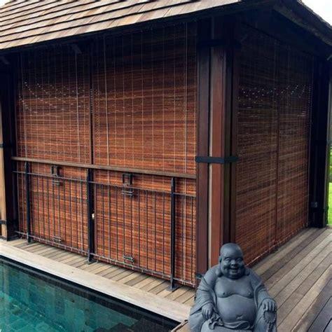 Rideau Exterieur Bambou by Cool Store Mauricien Teinte Miel With Rideau Exterieur Bambou