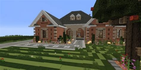 home design for minecraft large suburban house minecraft house design