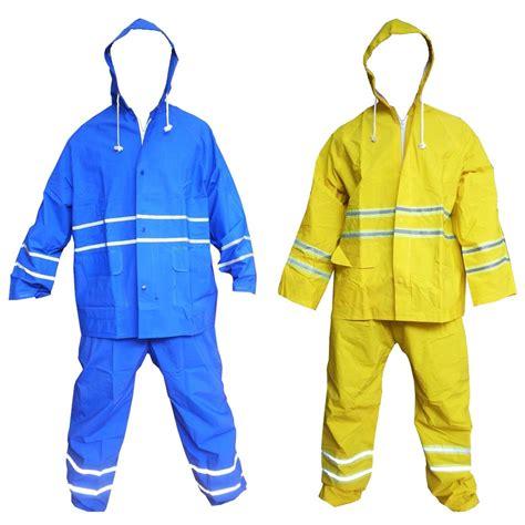 Jansen Pls Blue Jas Hujan jas hujan safety pvc with reflective warna royal blue dan