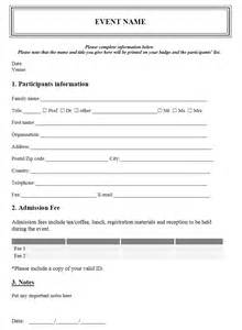template for registration form in word event registration form template free microsoft word