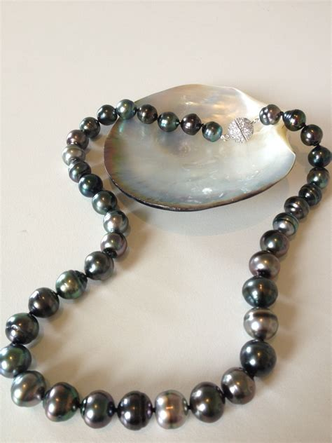 tahitian black pearl necklace the pearl southern