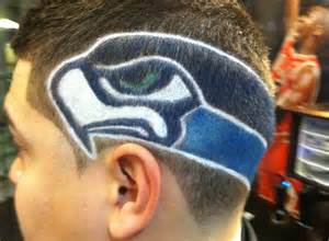 seattle barbers that do seahawk haircuts look seahawks mania goes to the heads of some fans